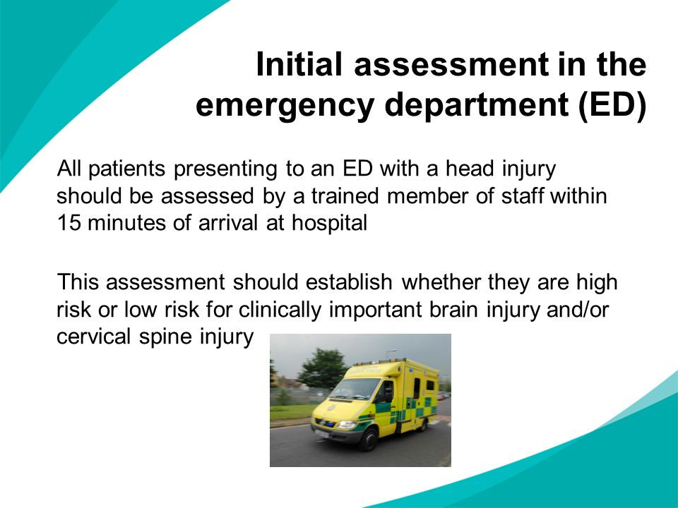 Initial assessment in the emergency department (ED)