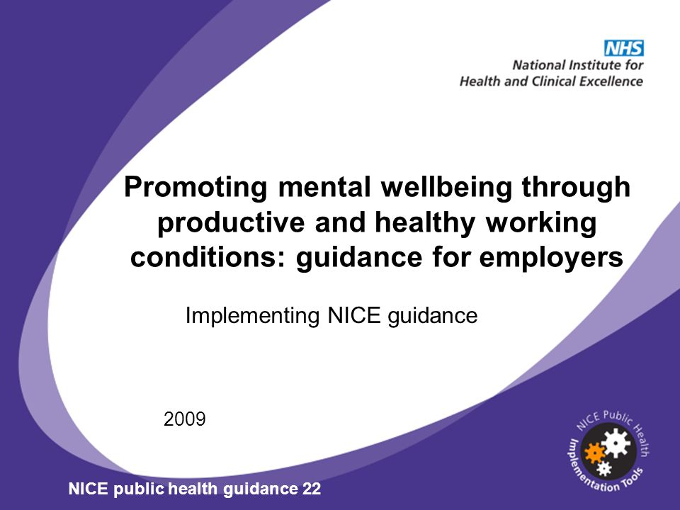 Implementing NICE guidance