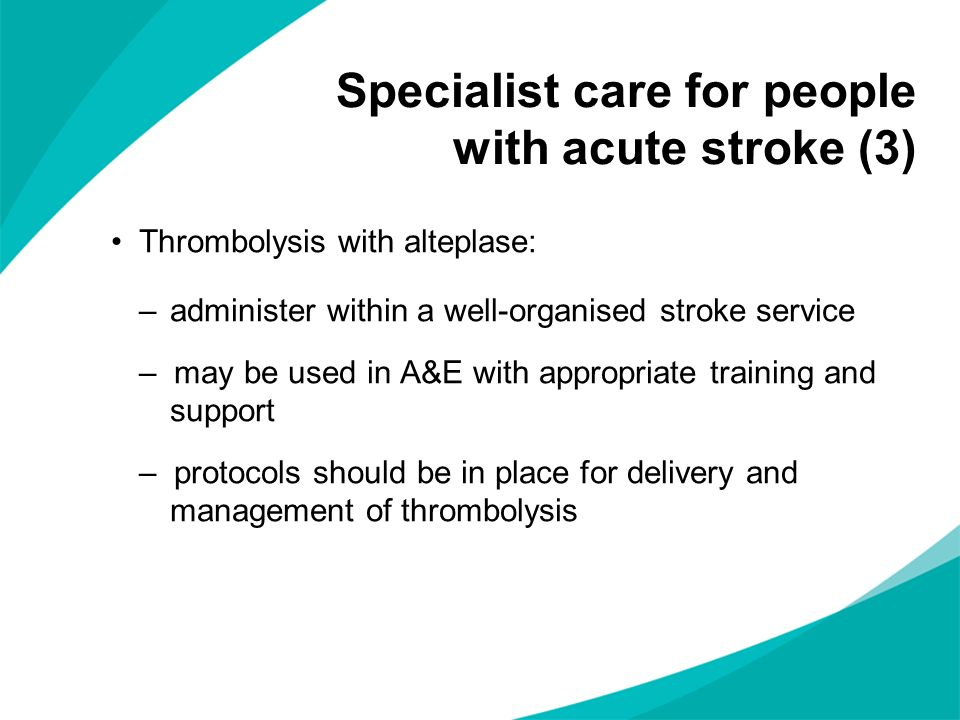 Specialist care for people with acute stroke (3)