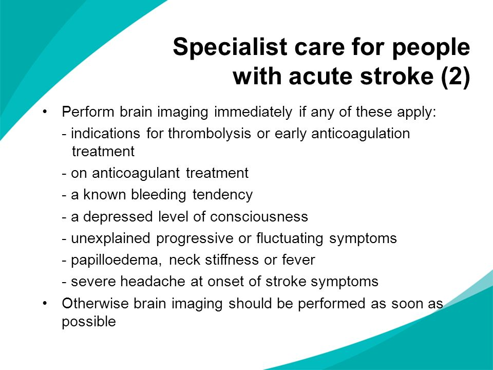 Specialist care for people with acute stroke (2)