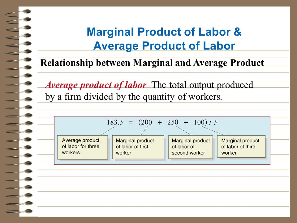 explain the relationship between marginal product and average product The marginal product curve is 'n' shaped because of the law of diminishing returns as you add more units of a variable factor, at first, the marginal product rises, (this is because the fixed .