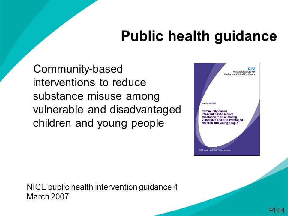 Public health guidance