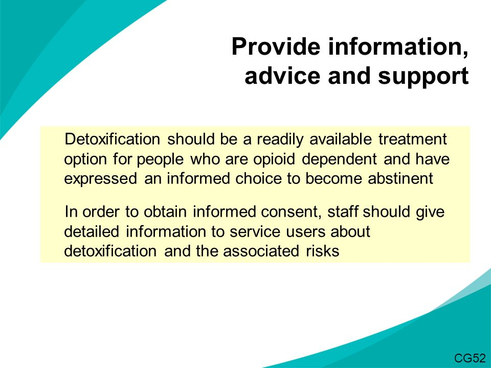 Provide information, advice and support