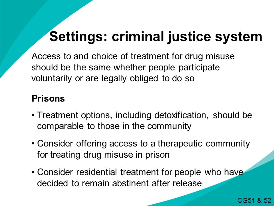 Settings: criminal justice system