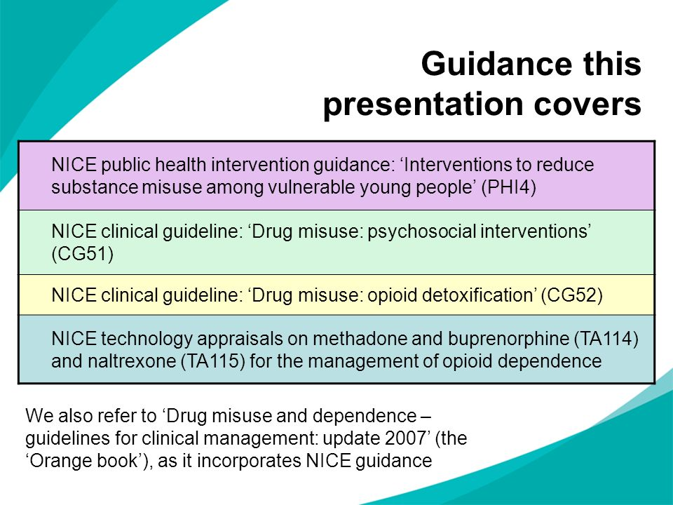 Guidance this presentation covers