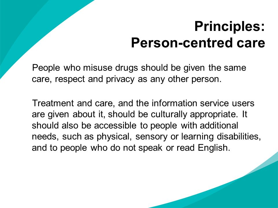 Principles: Person-centred care