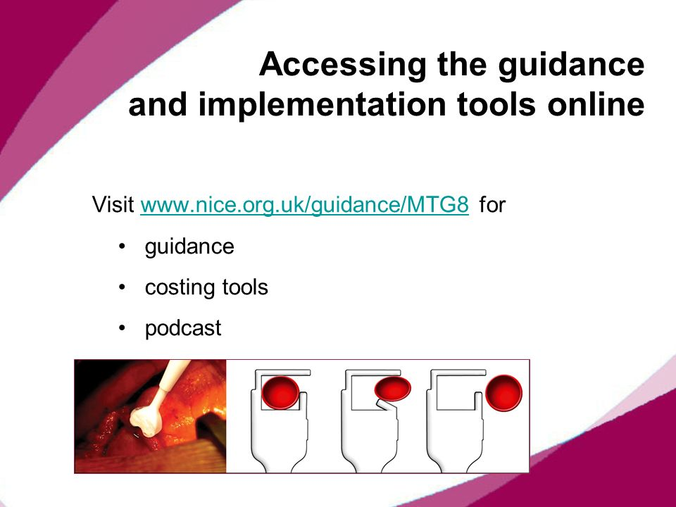 Accessing the guidance and implementation tools online