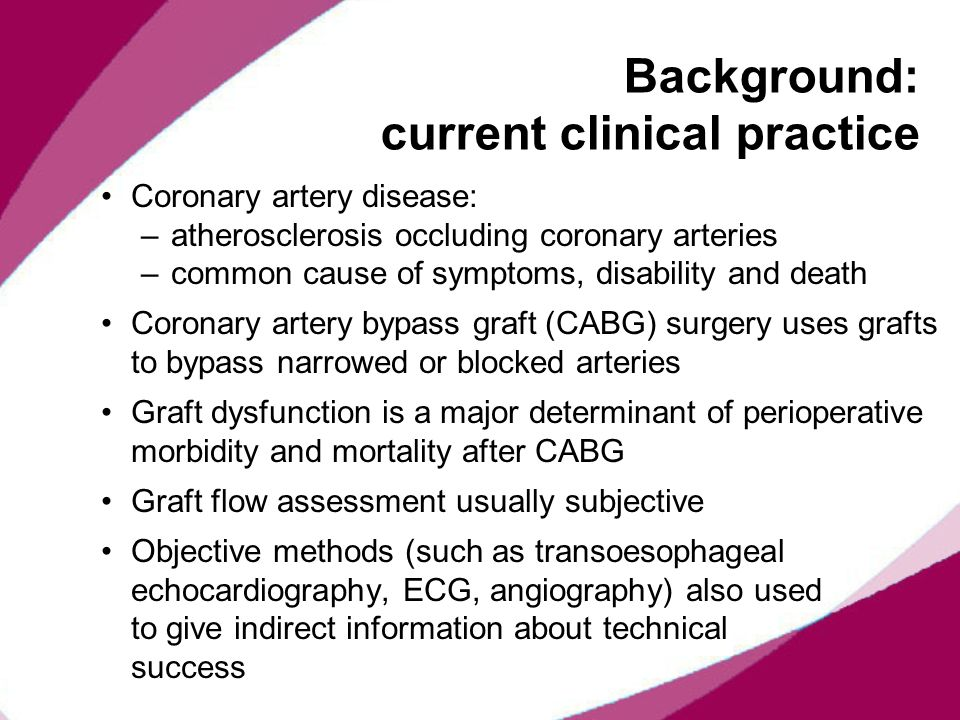 Background: current clinical practice