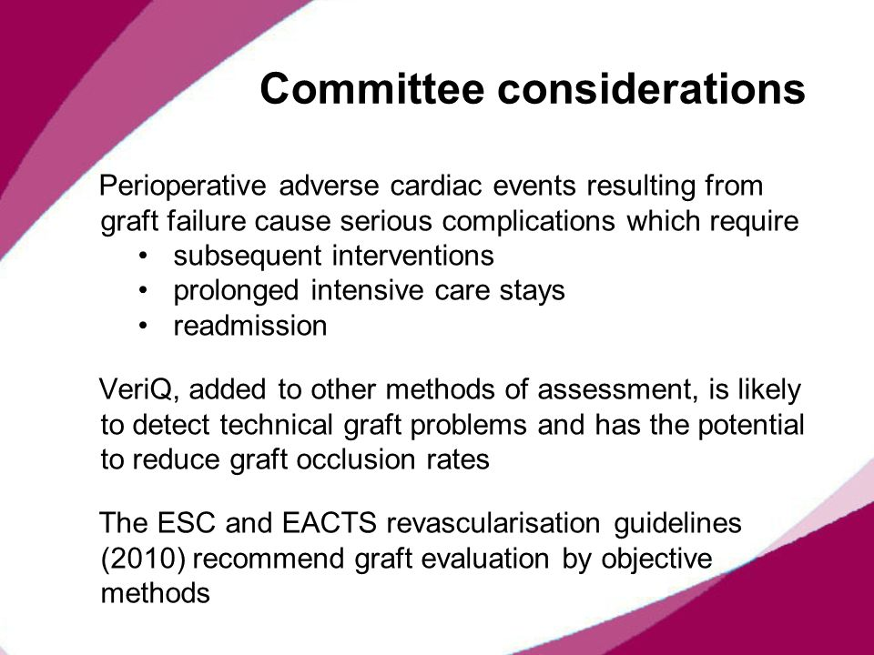 Committee considerations
