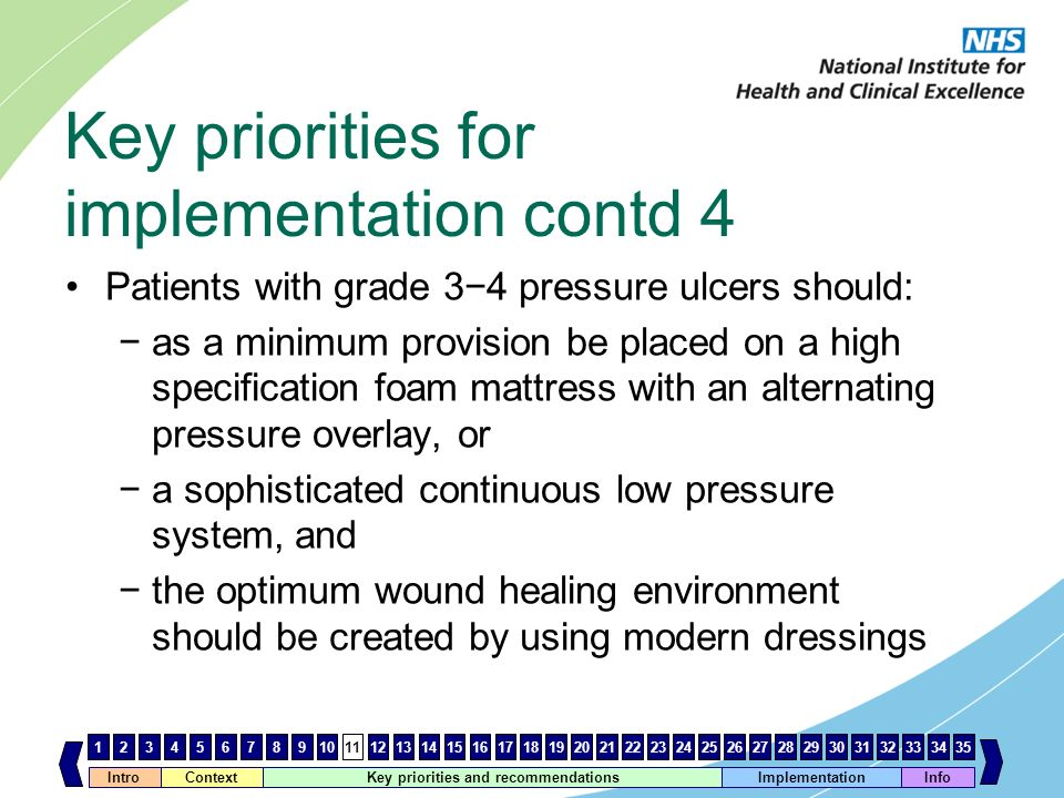 Key priorities for implementation contd 4