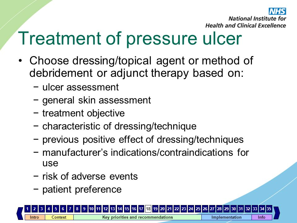 Treatment of pressure ulcer