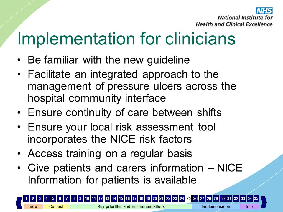Implementation for clinicians