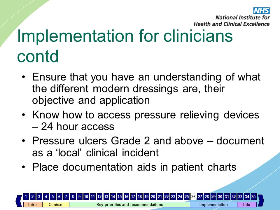 Implementation for clinicians contd