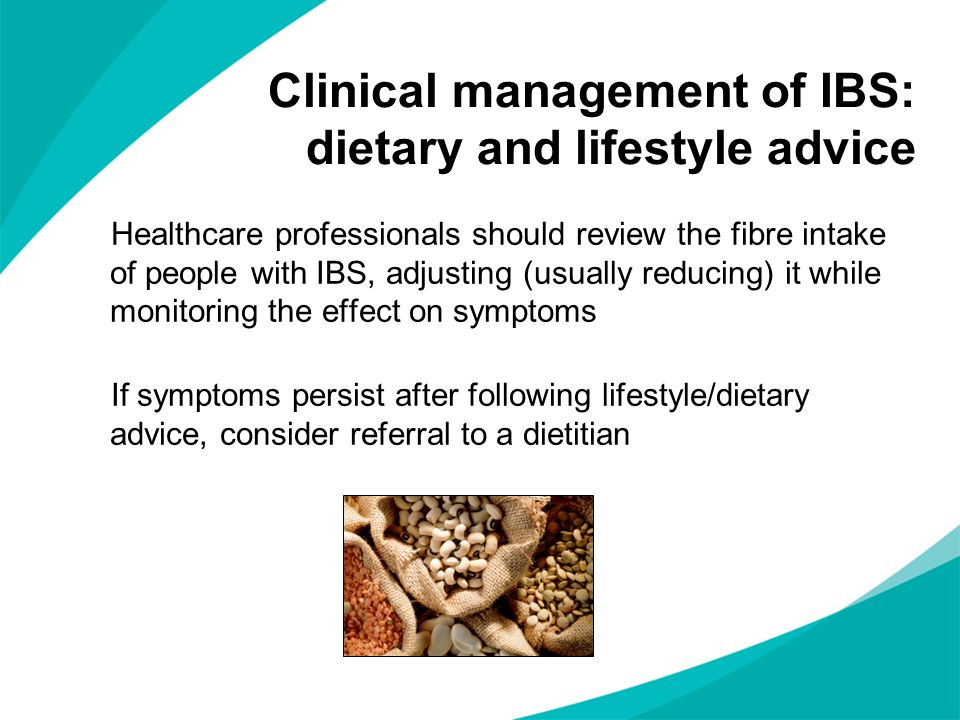 Clinical management of IBS: dietary and lifestyle advice