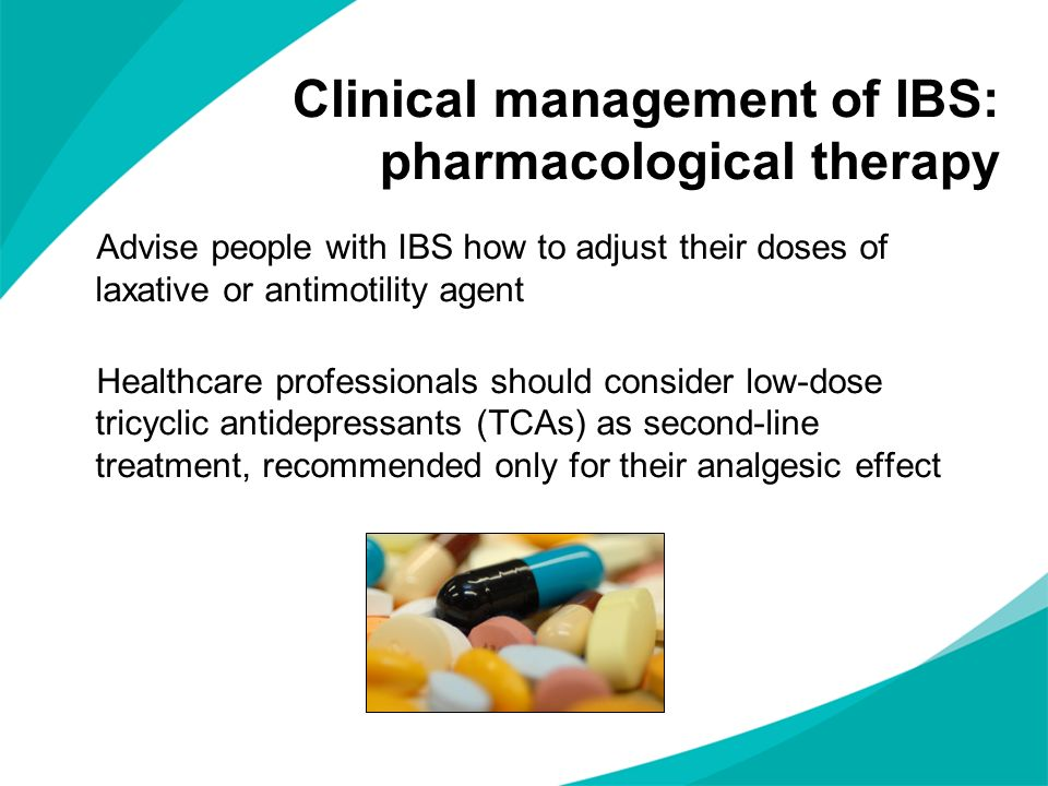 Clinical management of IBS: pharmacological therapy