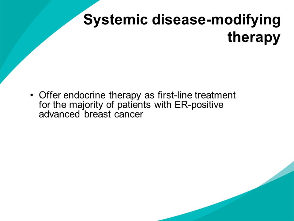 Systemic disease-modifying therapy