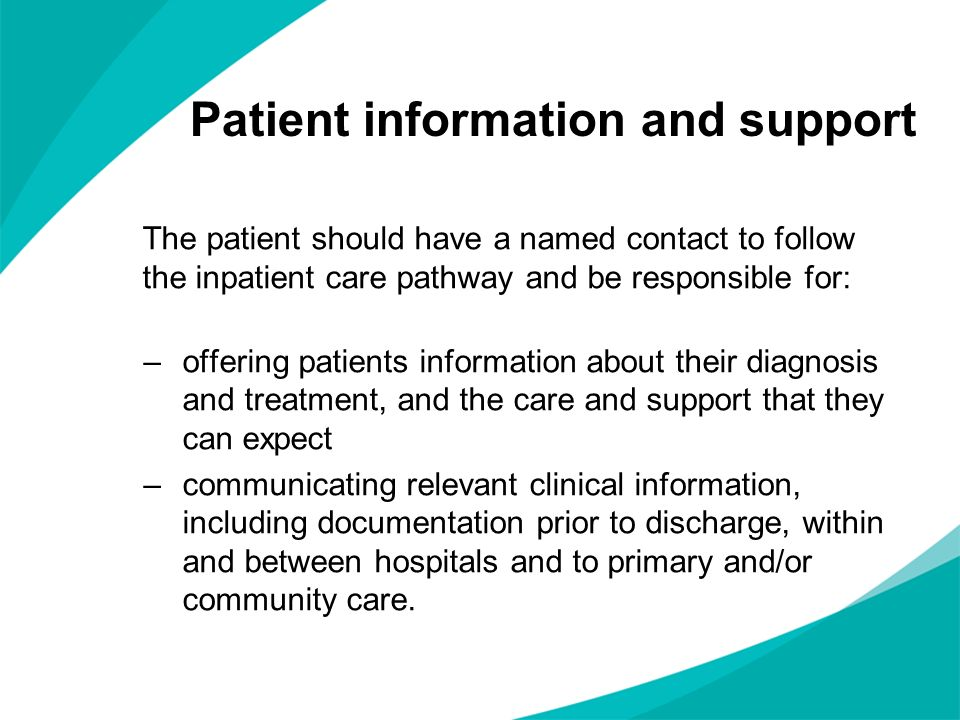 Patient information and support