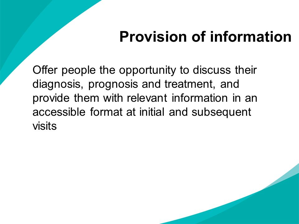 Provision of information