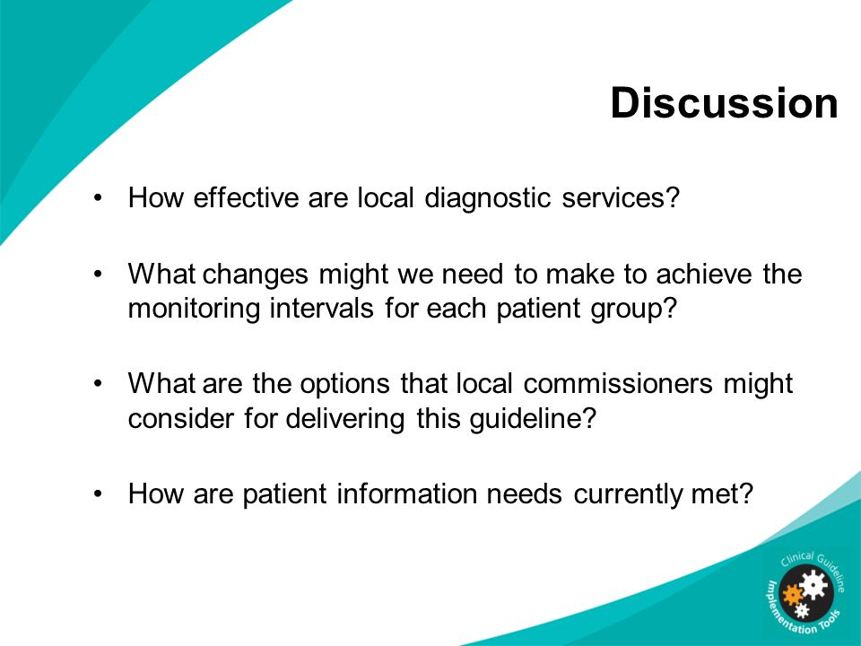 Discussion How effective are local diagnostic services