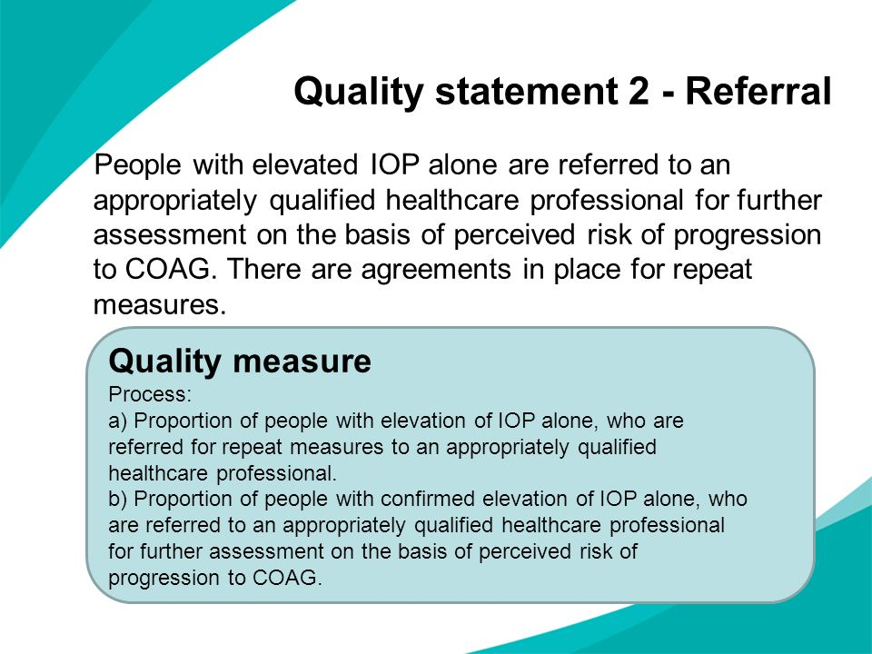 Quality statement 2 - Referral