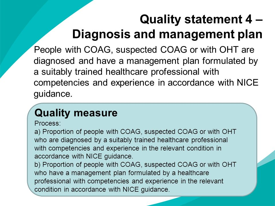 Quality statement 4 – Diagnosis and management plan