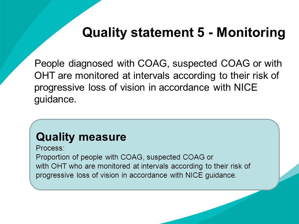 Quality statement 5 - Monitoring