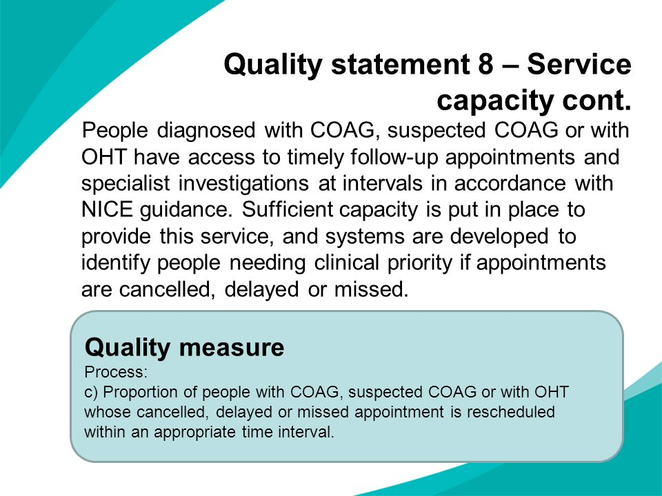 Quality statement 8 – Service capacity cont.