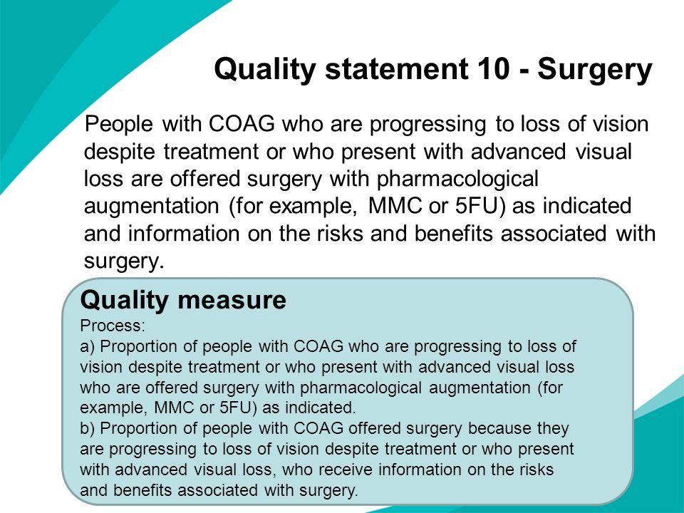 Quality statement 10 - Surgery