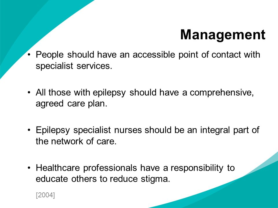 Management People should have an accessible point of contact with specialist services.