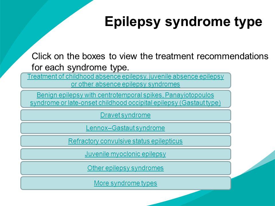 Epilepsy syndrome type
