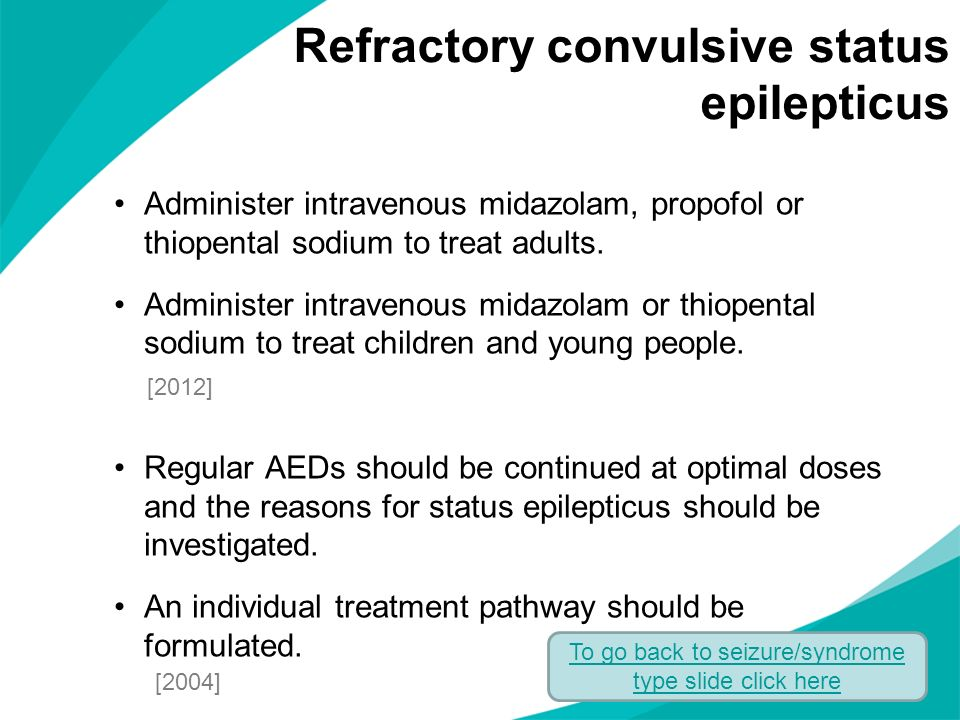 Refractory convulsive status epilepticus