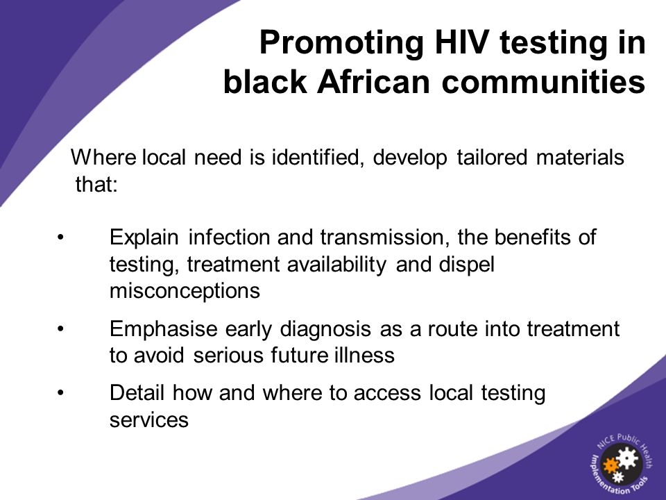Promoting HIV testing in black African communities