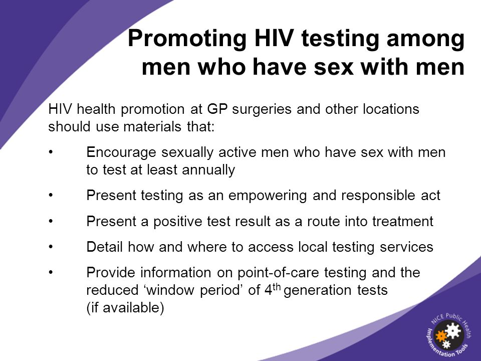Promoting HIV testing among men who have sex with men