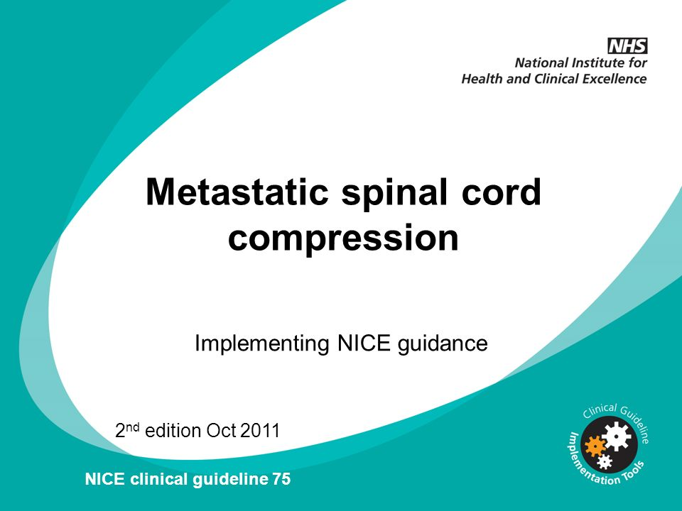 Metastatic spinal cord compression