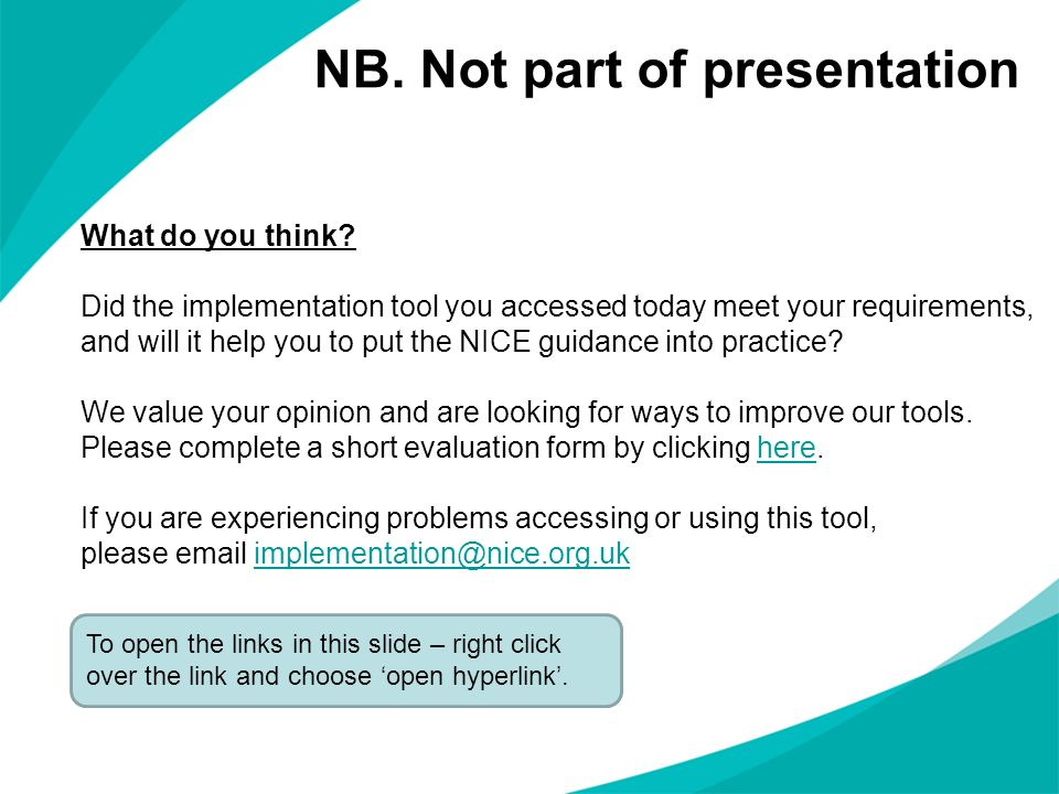 NB. Not part of presentation
