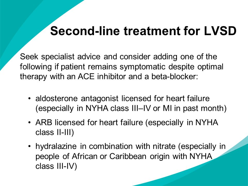 Second-line treatment for LVSD