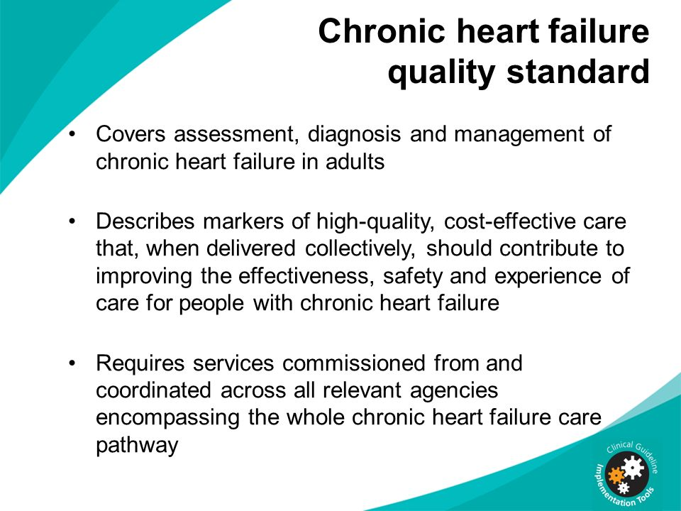 Chronic heart failure quality standard