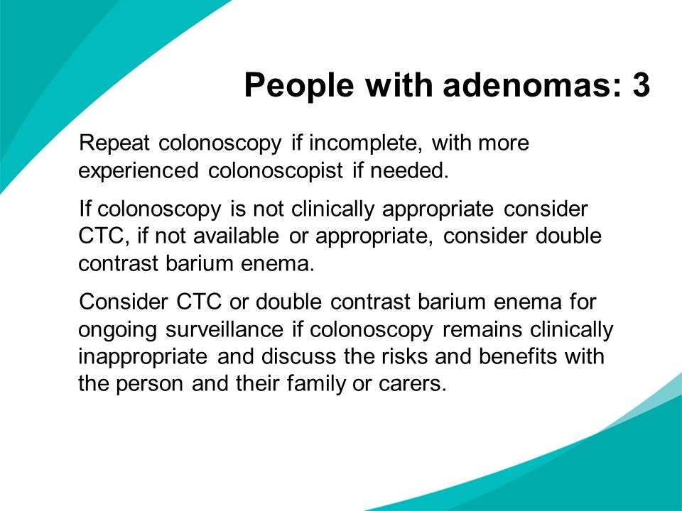 People with adenomas: 3