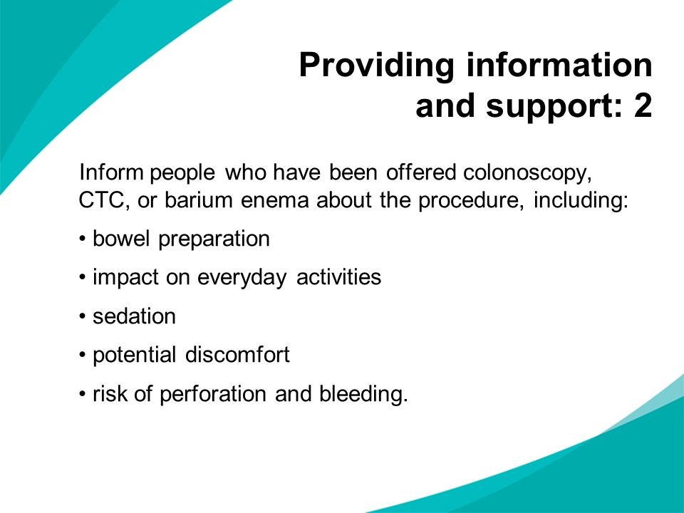 Providing information and support: 2