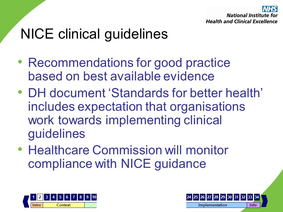 NICE clinical guidelines