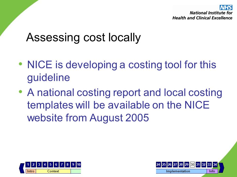 Assessing cost locally