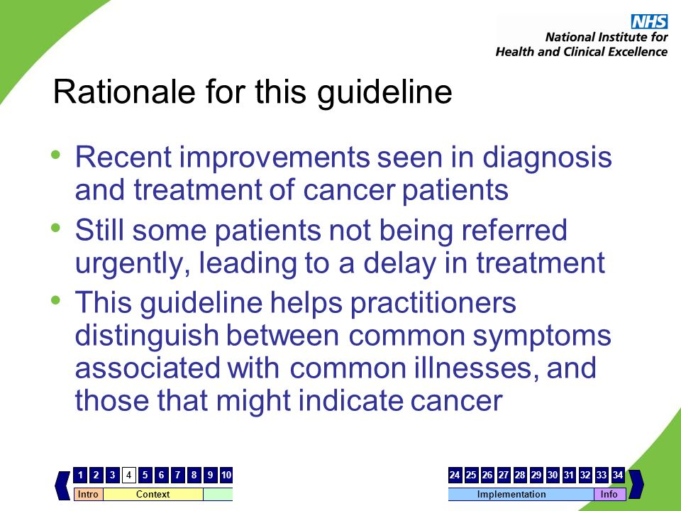 Rationale for this guideline