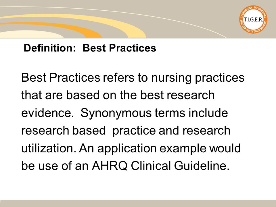 evidence based practice refers to makin Evidence-based practice simply refers to combining research, clinical knowledge, and patient preferences to reach a health care decision it emphasizes the use of the highest-quality information and deemphasizes the use of customs, opinions, or rituals to make a clinical judgment.