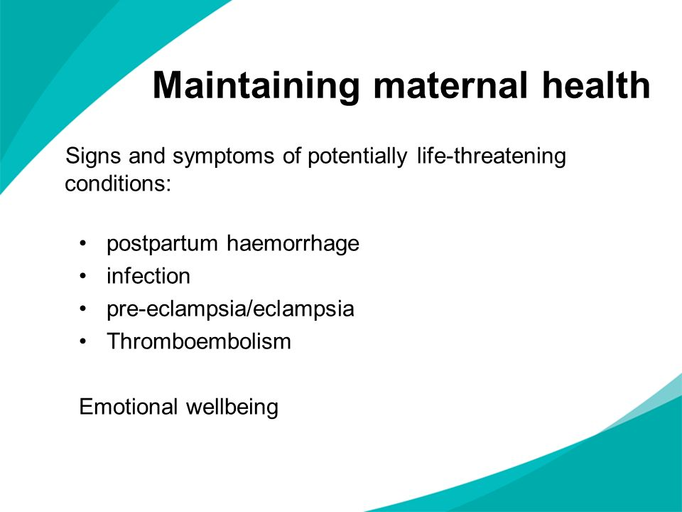 Maintaining maternal health