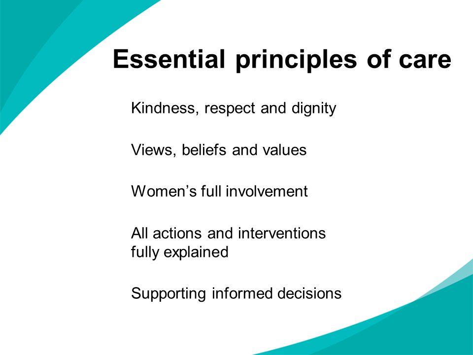 Essential principles of care