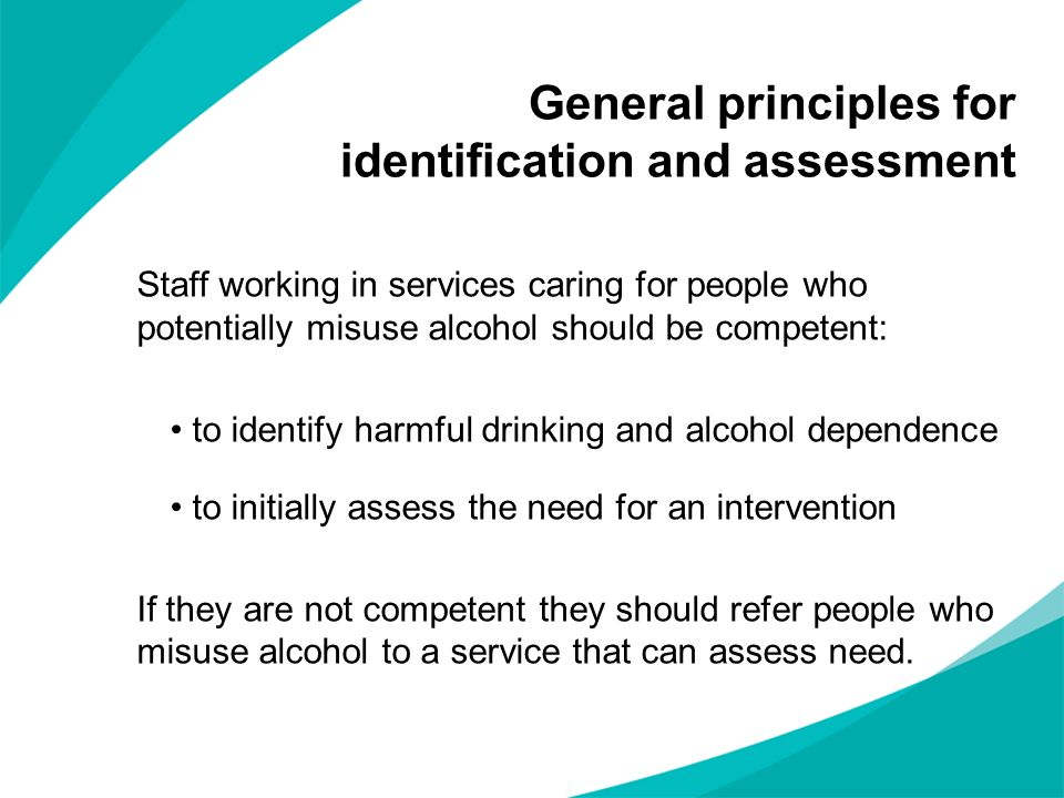 General principles for identification and assessment