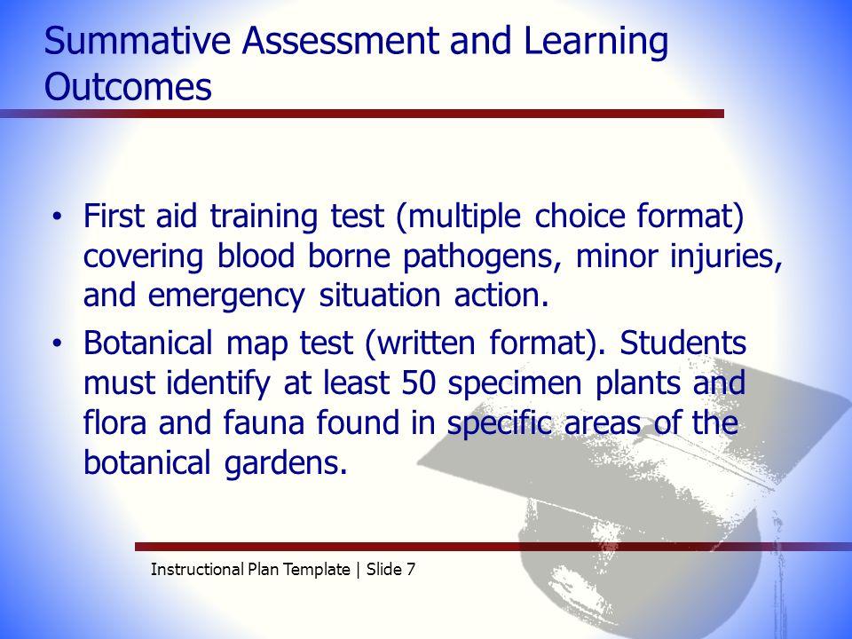 Aet 515 instructional plan template elizabeth andrews for Summative assessment template