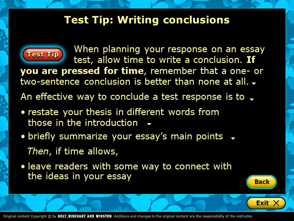 drafting writing introductions and conclusions ppt video online  test tip writing conclusions