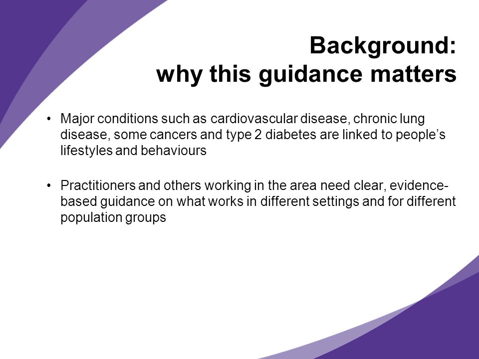 Background: why this guidance matters