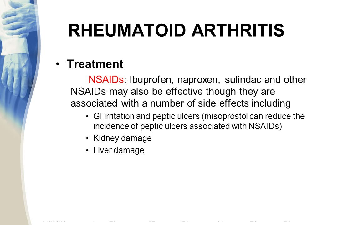 the cause effects and treatment of rheumatoid arthritis These medications have side effects that should be discussed with your the exact cause of ra remains rheumatoid arthritis treatment for other parts of the.